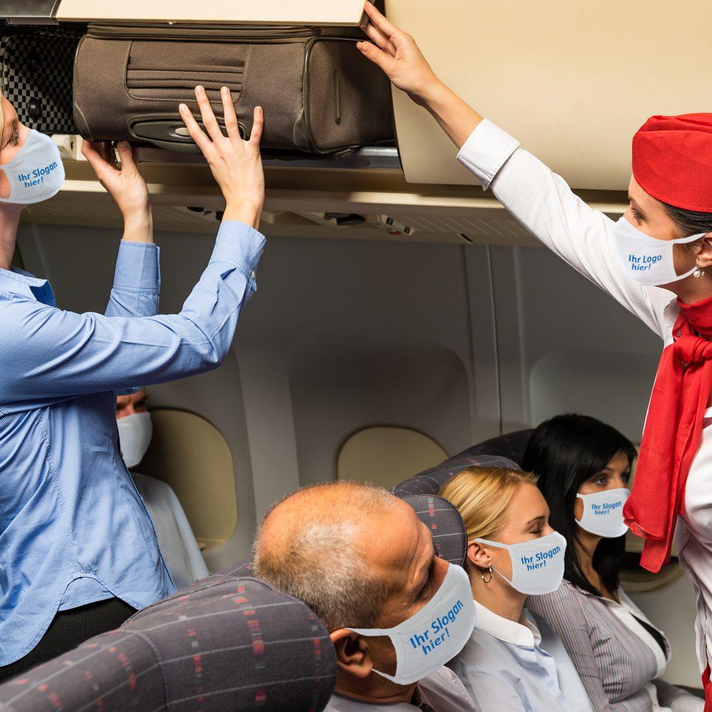 Maske für Airlines