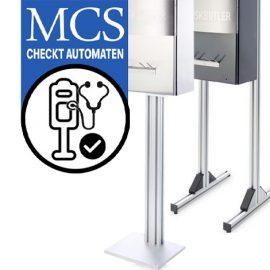 Mcs testet Automaten zur Masken-Ausgabe